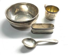 Selection of sterling silver items weight 190g