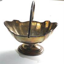 Silver swing handle sugar bowl 89g