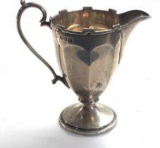 Antique silver cream jug Birmingham silver hallmarks weight 75g