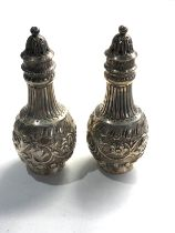 Pair of victorian scottish silver salts by mackay & chisholm weight 82g