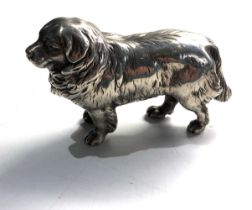 Silver figure of a dog xrt tested as silver weight 176g