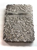 silver card case the hinge is broken not hallmarked xrt as silver weight 120g
