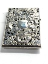 Chinese silver card case weight 116g