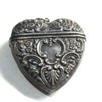 silver heart vesta case