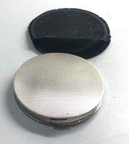 Silver compact no mirror weight 104g hallmarked 925