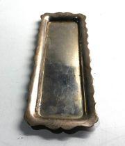 Vintage silver trinket tray Birmingham silver hallmarks weight 115g