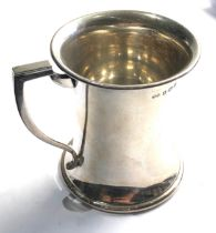 Vintage silver christening mug 96g Birmingham silver hallmarks