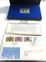 Boxed the post office official commemorative stamp edition 1952-1977 silver stamp 74g