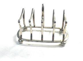 Silver toast rack Birmingham silver hallmarks weight 96g