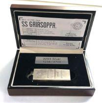 Boxed 999 silver 10 oz bullion bar