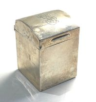 Antique silver card box measures approx 5 cm tall 3.7cm wide London silver hallmarks