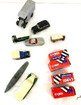 Selection vintage and later Diecast Corgi / Yesteryear vehicles