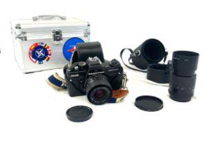 Praktica BMS electronic camera, Carl Zeiss Jena p 1:28 f=135mm MC, both untested