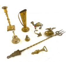 Selection of assorted brassware