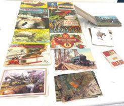 Large selection of vintage cigarette cards