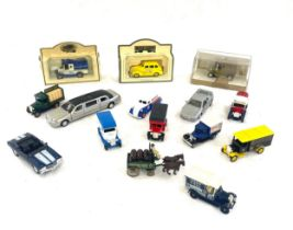 Selection of vintage diecast cars, to include Lledo etc