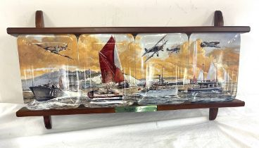 Davenport pottery Co Limited, ?The Spirit of Dunkirk?, set of 4, limited edition with wooden
