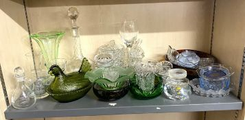 Large selection of glassware includes whitefriars etc