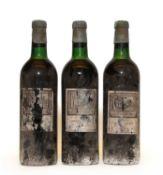 Chateau Palmer, 3eme Cru Classe, Margaux, Berry Bros & Rudd bottling, 1961, three bottles