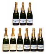 Assorted non-vintage Champagne: Duval-Leroy, Vertus, NV, six bottles and three various others