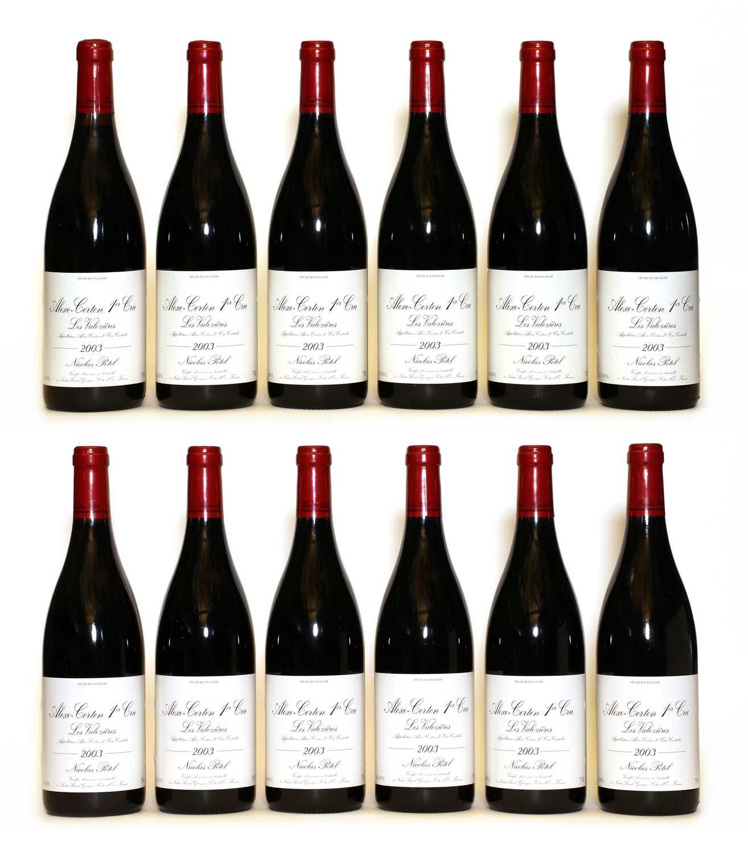 Aloxe-Corton, 1er Cru, Les Valozieres, Nicolas Potel, 2003, twelve bottles (boxed)