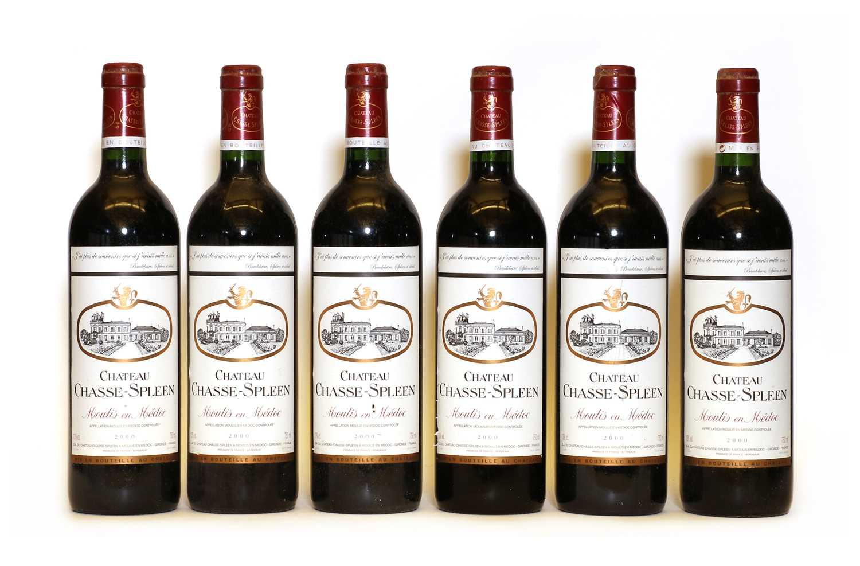 Chateau Chasse Spleen, Moulis en Medoc, Cru Bourgeois, 2000, six bottles
