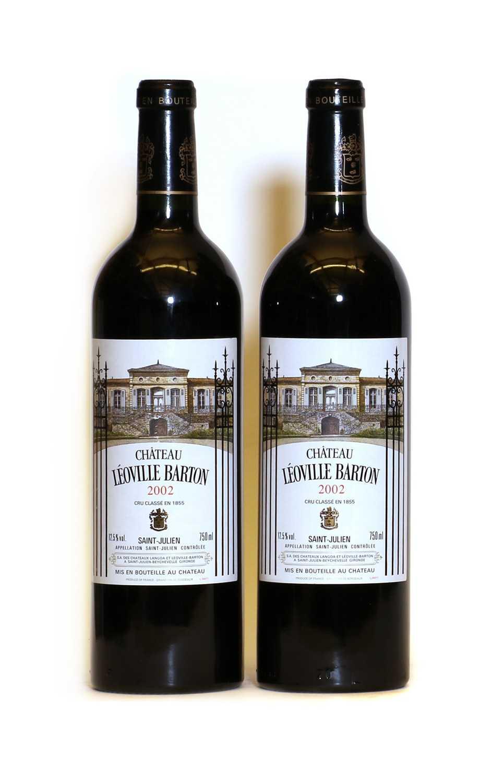 Chateau Leoville Barton, 2eme Cru Classe, Saint Julien, 2002, two bottles