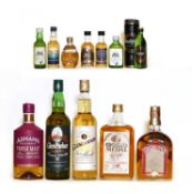 Assorted whisky: Strathconon, Blended Scotch Whisky, 12 Years Old, one bottle and four others