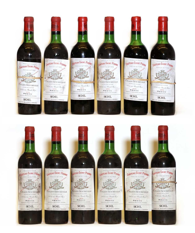 Chateau Saint Pierre, 4eme Cru Classe, St Julien, 1970, twelve bottles