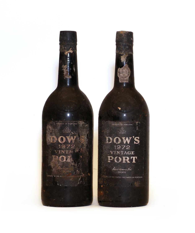 Dows, Vintage Port, 1972, two bottles