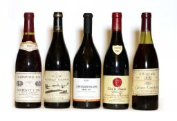 Assorted Red Wine: Ch Corton Grancey, Grand Cru, Louis Latour, 1978, one bottle and 4various others