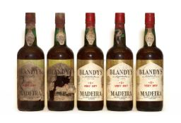 Blandys, S, Very Dry Madeira, NV, five bottles