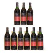 Chateau Potensac, Medoc, 1970, nine bottles