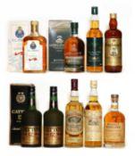 Assorted whisky: King George IV, Blended Scotch Whisky, 1970s bottling, 1 bottle & 8 various others
