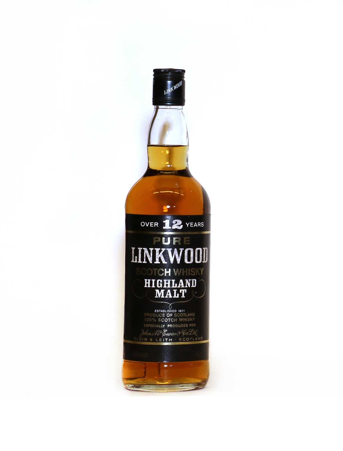 Linkwood, Pure Highland Malt Scotch Whisky, Over 12 Years, 1980s bottling, 40% vol, 75cl, one