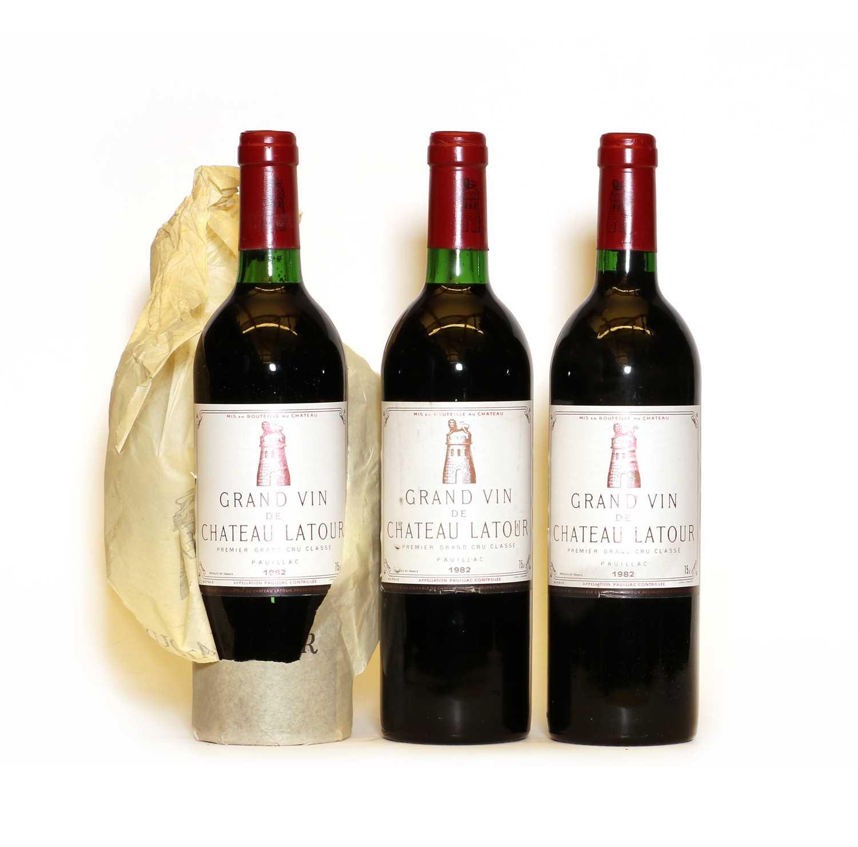 Chateau Latour, 1er Cru Classe, Pauillac, 1982, three bottles