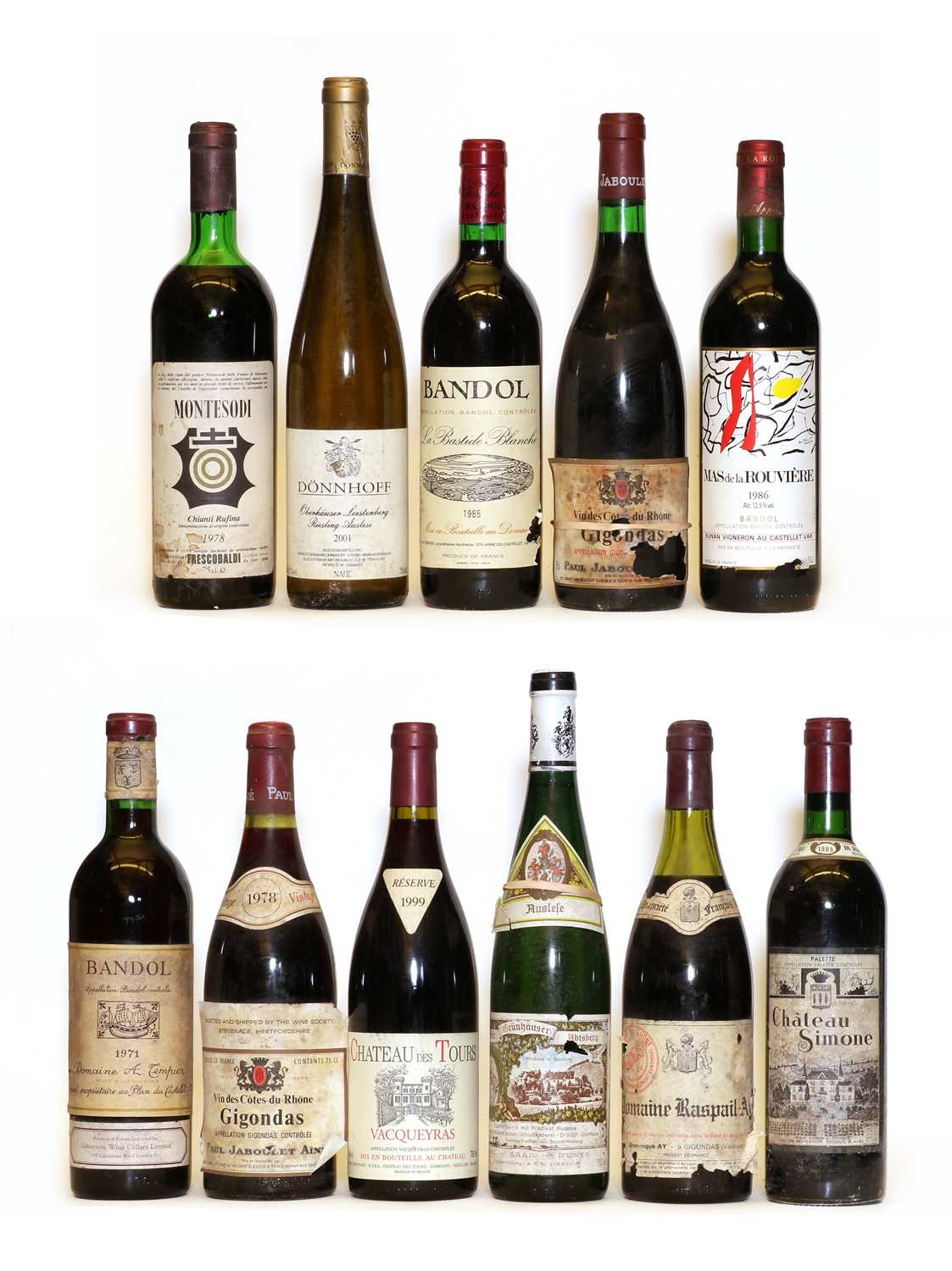 Miscellaneous wines: Bandol, Domaine A. Tempier, 1971, one bottle and ten various others