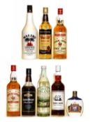 Assorted Rum: Cockspur, Five Star Fine Rum, 1980s bottling, two bottles and five various others