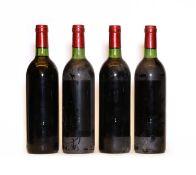 Chateau Grand Puy Ducasse, 5eme Cru Classe, Pauillac, 1980 four bottles, labels missing