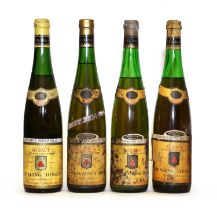 Assorted wines by Hugel; Riesling, Vendange Tardive, Alsace, 1976, one bottle and 3 various others