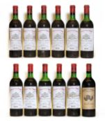 Chateau Saint Pierre, 4eme Cru Classe, St Julien, 1970, eleven bottles and one various other
