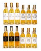 Assorted 2013 sweet wine to include Ch Doisy Daene, Ch Coutet and others, 12 half bottles in total