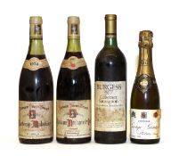 Miscellaneous wine: Cabernet Sauvignon, Napa Valley, Burgess, 1977, one bottle and 3 various others