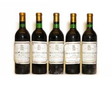Chateau Pichon Lalande, 2eme Cru Classe, Pauillac, 1974, five bottles