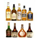 Assorted Whisky: The Strathspey Malt,1970s bottling, one bottle and eight various others