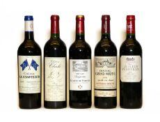 Assorted Bordeaux: Chateau La Confession, 2009, one bottle and five various others