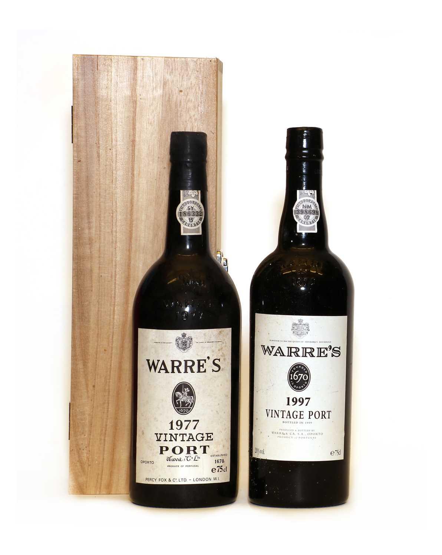Warres, Vintage Port, 1977, one bottle and 1997, one bottle, two bottles in total