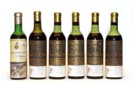 Rioja Gran Reserva, Federico Paternina, 1928, 1 half bottle & Ch Cantenac Brown, 1943, 5 half btls