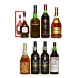 Assorted wine and spirits to include: Bisquit, Three Star Cognac, 1970s and seven various others