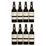 Dows, Late Bottled Vintage Port, 2001, eight bottles